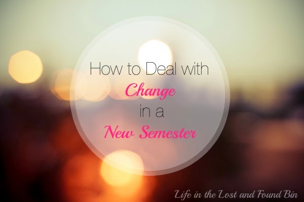 How to Deal with Change in a New Semester