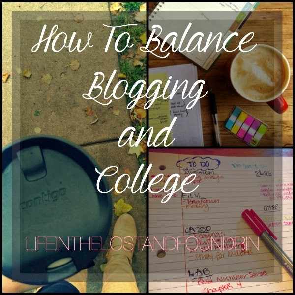 How to Balance Blogging and College