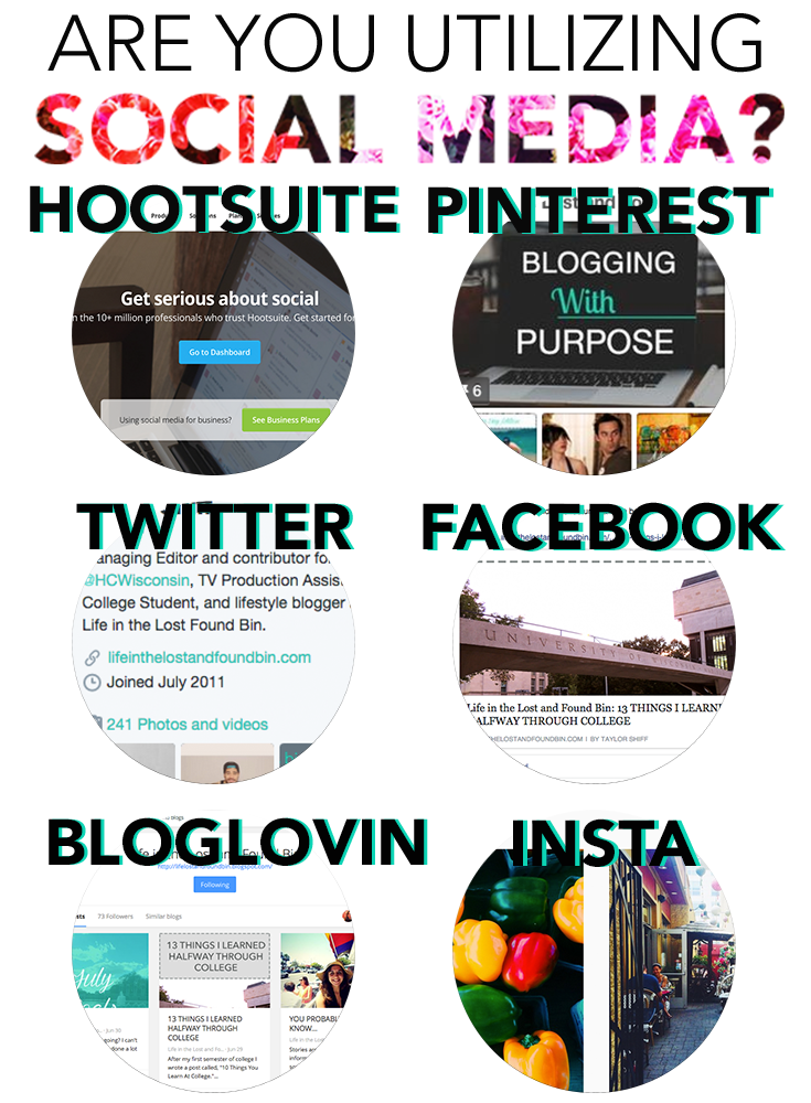 Are you utilizing social media, blogging