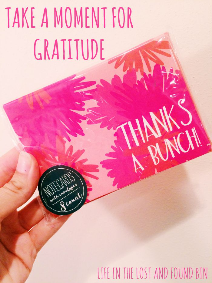 Take a moment for gratitude